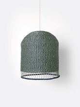 Lampa sufitowa pleciona Ferm Living Dusty Green Tall