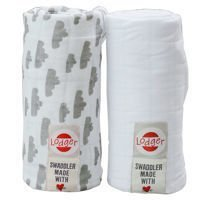 Pieluszki 2-pack Lodger Swaddler Grey/White