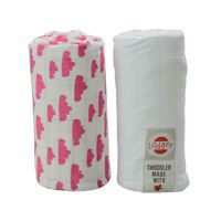 Pieluszki 2-pack Lodger Swaddler Rosa/White