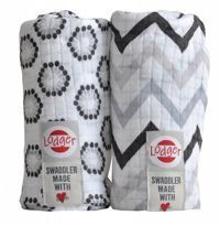 Pieluszki 2-pack Lodger Swaddler Zig Zag/ Flower