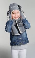 Szalik Mufler Basic Girl Light Grey 1-3y